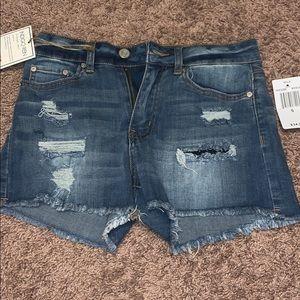INDIGO REIN highrise denim shorts juniors size 5